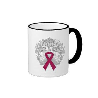 Sickle Cell Anemia Fight Like A Girl Fleurish Ringer Mug