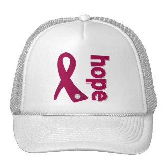 Sickle Cell Anemia Hope Ribbon Trucker Hats