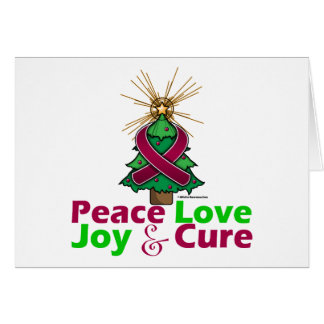 Sickle Cell Anemia Peace Love Joy Cure Greeting Card