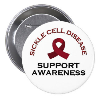 Sickle Cell Disease Awareness, Support and Healing 7.5 Cm Round Badge