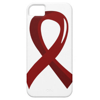 Sickle Cell Disease Burgundy Ribbon 3 iPhone 5 Case