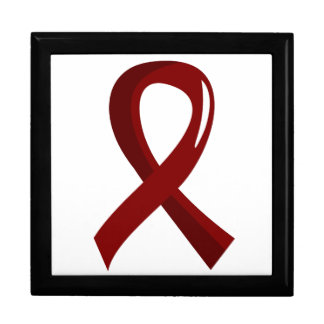 Sickle Cell Disease Burgundy Ribbon 3 Keepsake Boxes