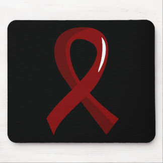 Sickle Cell Disease Burgundy Ribbon 3 Mousepads