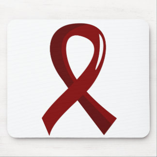 Sickle Cell Disease Burgundy Ribbon 3 Mouse Pads