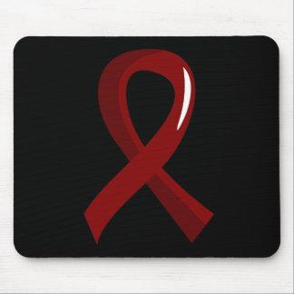 Sickle Cell Disease Burgundy Ribbon 3 Mousepads