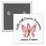 Sickle Cell Disease Butterfly 6.1 15 Cm Square Badge