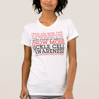 SICKLE CELL FACTS 2   AWARENESS T SHIRT