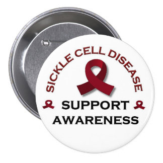 Sickle Cell Support Pinback Buttons