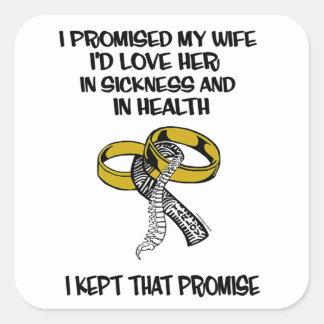 Sickness/Health...Tarlov Cyst Square Sticker