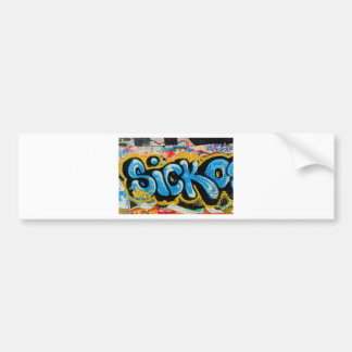 Sicko Graffiti on the Textured Wall Bumper Sticker