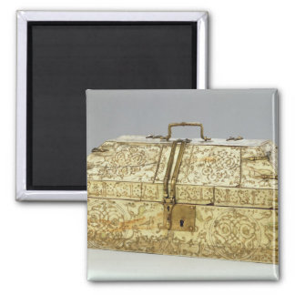 Siculo Arabic casket with animals Square Magnet