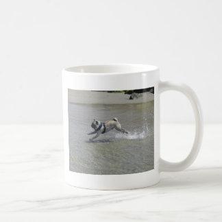 Sid the Pug at the Beach Basic White Mug