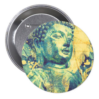 Siddhartha Buddha 7.5 Cm Round Badge