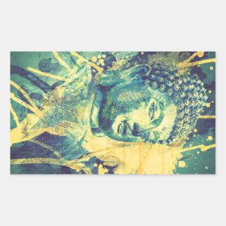 Siddhartha Buddha Rectangular Sticker