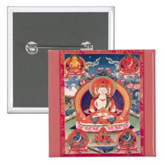 Siddhārtha Gautama Buddha 15 Cm Square Badge