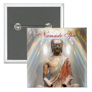 Siddhartha Gautama Statue 15 Cm Square Badge