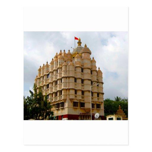 SIDDHIVINAYAK TEMPLE MUMBAI INDIA POST CARD