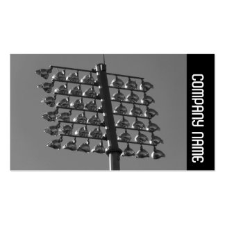 Side Band - Flood Lights (B&W) Pack Of Standard Business Cards