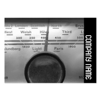 Side Band - Old UK Radio Dial Pack Of Chubby Business Cards