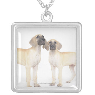 side by side,small group of animals,togetherness silver plated necklace