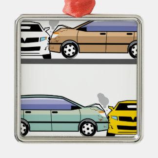 Side car crash christmas ornament