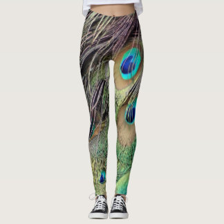 Side Feathers Of A peacock Leggings