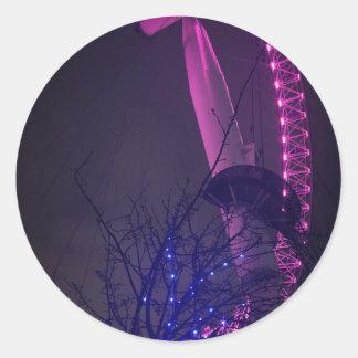 Side of London Eye Classic Round Sticker