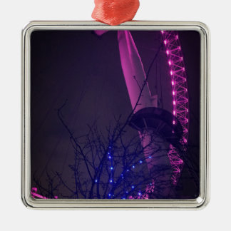 Side of London Eye Silver-Colored Square Decoration