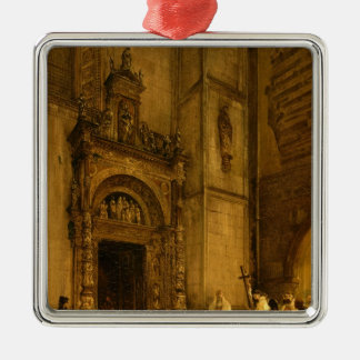 Side portal of Como Cathedral, 1850 Christmas Ornament