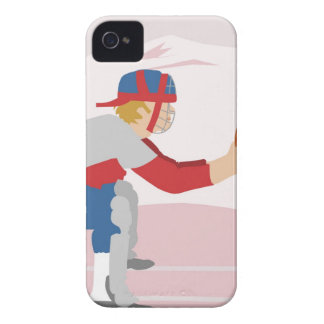 Side profile of a baseball player iPhone 4 case
