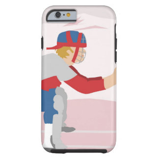 Side profile of a baseball player tough iPhone 6 case