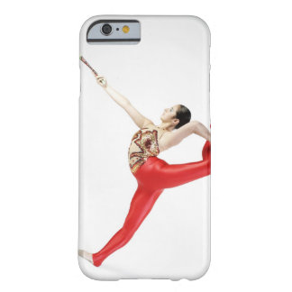 Side profile of a female gymnast practicing barely there iPhone 6 case