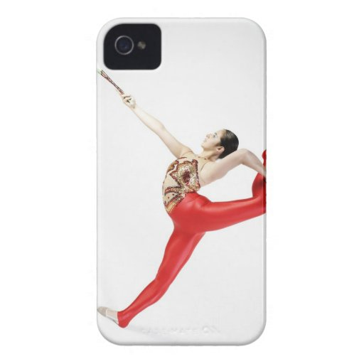 Side profile of a female gymnast practicing iPhone 4 cases