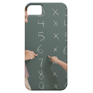 Side profile of a female teacher teaching her iPhone 5 covers