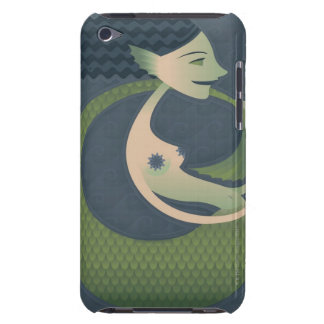 Side profile of a mermaid iPod touch cases