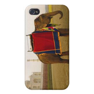 Side profile of an elephant, Taj Mahal, India Cases For iPhone 4