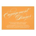 SIDE SCRIPT | ENGAGEMENT DINNER INVITATION 13 CM X 18 CM INVITATION CARD