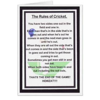SIDE SPLITTING LAUGHTER for the cricket lover Greeting Card