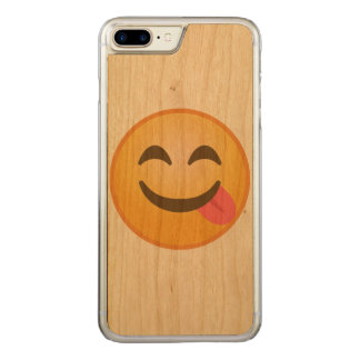 Side Tongue Emoji Carved iPhone 8 Plus/7 Plus Case