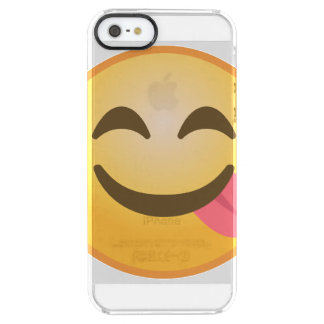 Side Tongue Emoji Clear iPhone SE/5/5s Case