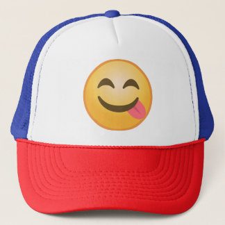 Side Tongue Emoji Trucker Hat