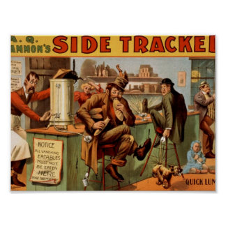 Side Tracker Quick Lunch Vintage Theater Poster