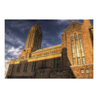Side view of cathedral poster