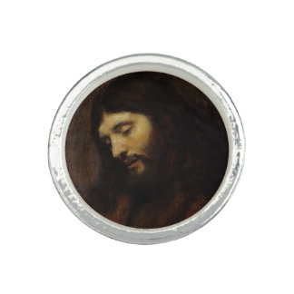 Side View of Jesus Face Ring