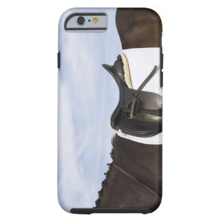 side view of saddled horse tough iPhone 6 case