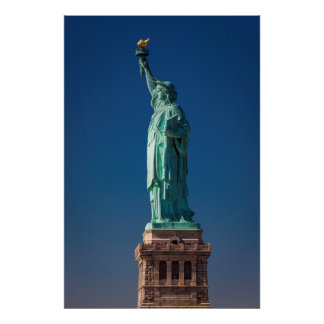 Side view of Statue of Liberty Poster