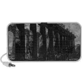Side View of the Temple of Juno Giovanni Battista Portable Speakers