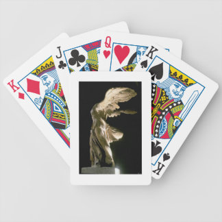Side view of the Victory of Samothrace (Parian mar Bicycle Playing Cards