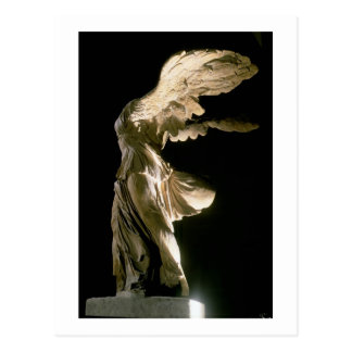 Side view of the Victory of Samothrace (Parian mar Postcard