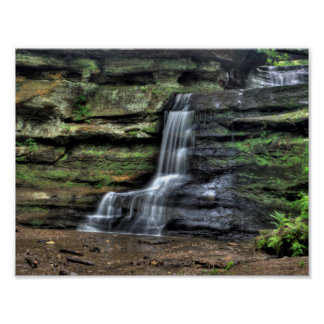 Side waterfall, Old Man's Cave, Ohio Poster